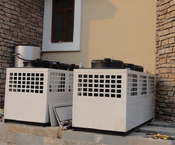 保定定兴幸福元小区空气能热泵机组工程案例